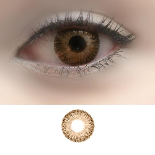 Magic Eye 3-tone -Light Hazel -Color Contact Lenses -1 ...