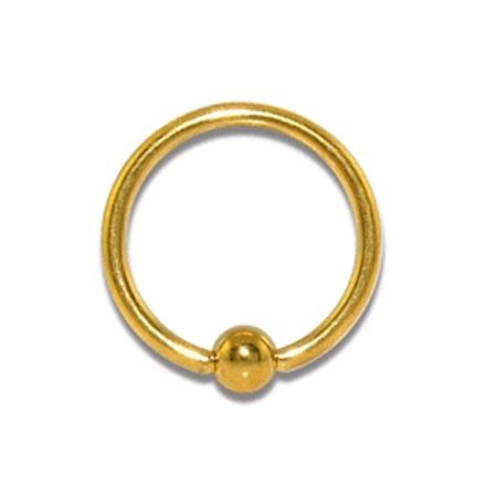 кольцо пирсинга интимного золотое для