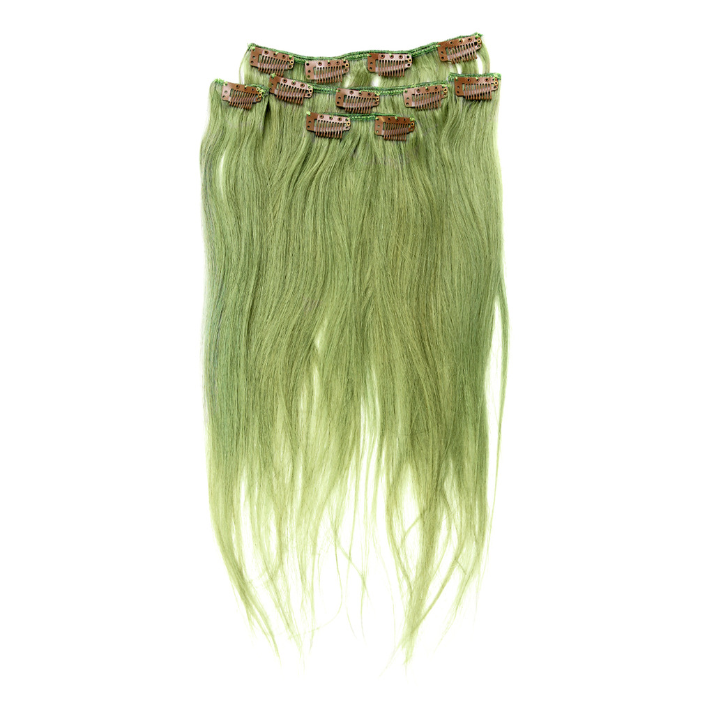 Clip On Human Hair Extension 2080g5 Os Green Cybershop