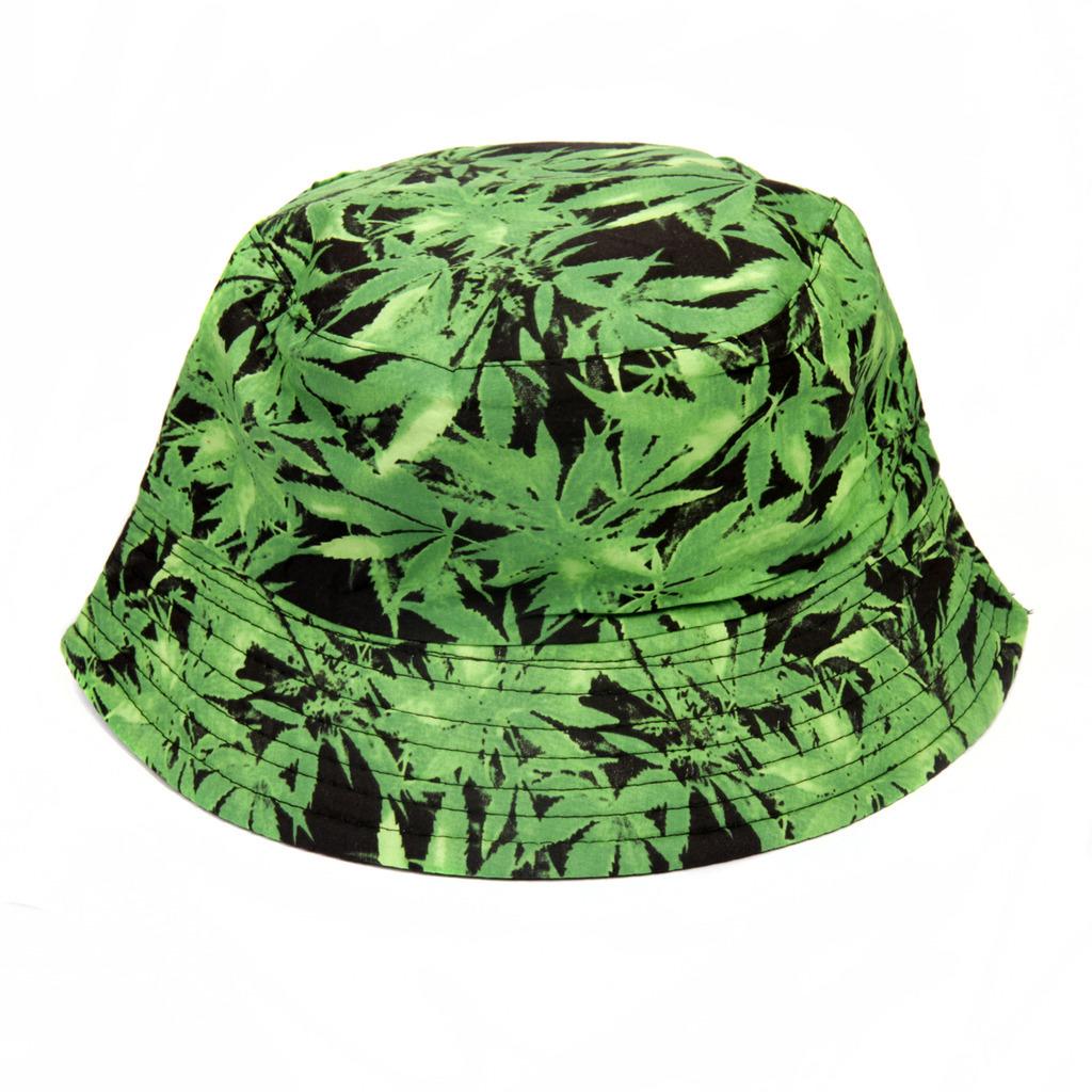 1ba82a36880 Bucket Hat -Green Leaves
