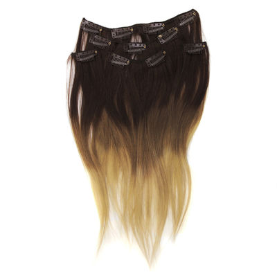 Clip On Human Hair Extension 14 60g 5os Brown Blond Ombre