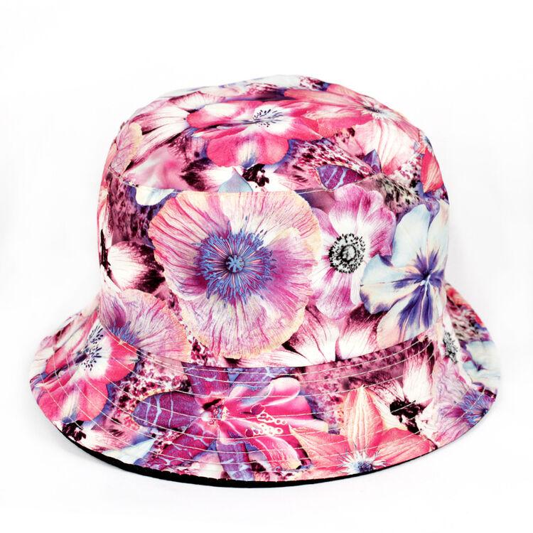 Pink Flower Bucket Hat